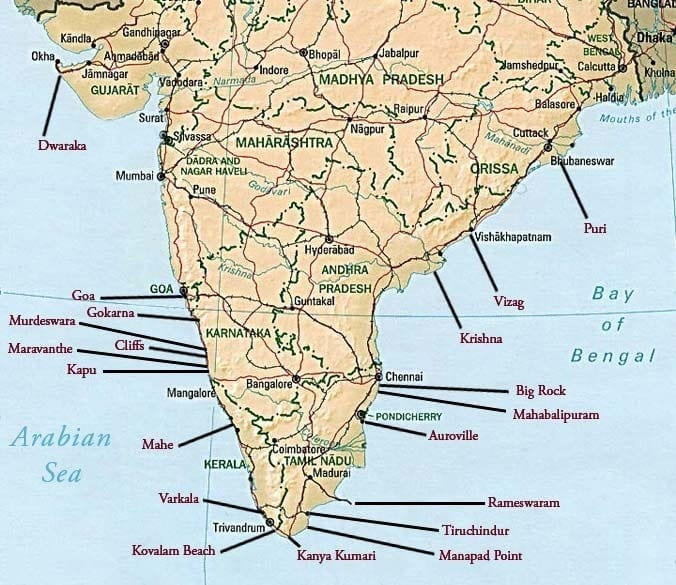 India Surf Map